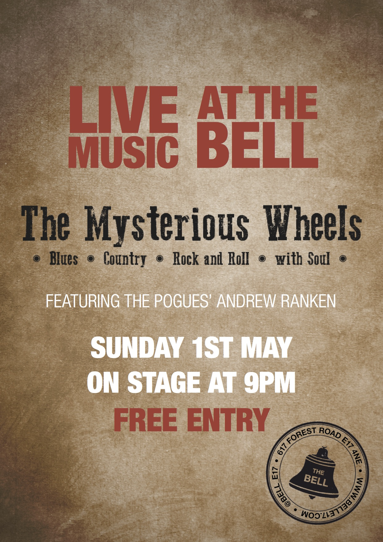 Mysterious Wheels play at The Bell