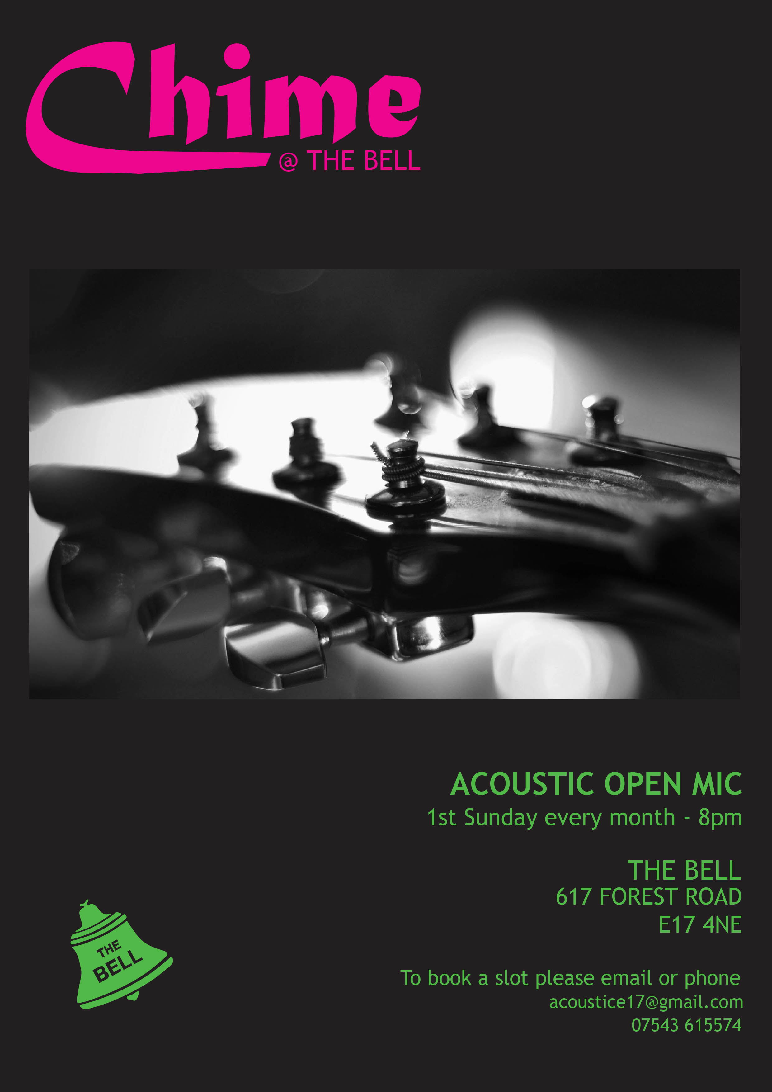 Acoustic Open Mic night the first Sunday of every month at 8pm